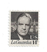 14¢ Fiorello LaGuardia U.S. postage stamp issued April 24, 1972.