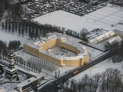 Frederiksberg Palace in the snow