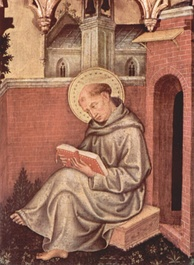 Thomas Aquinas from Valle Romita Polyptych by Gentile da Fabriano
