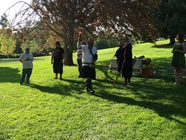 Harts Hearth Clan of Tooele, Utah performing the closing Norse rite, Salt Lake City Pagan Pride Day 2015