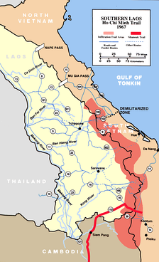 The Ho Chi Minh trail was used to supply the Viet Cong.