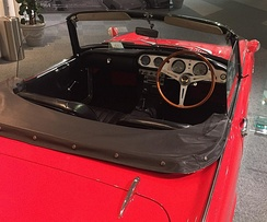 Honda S500 interior, display at Honda Collection Hall in Motegi