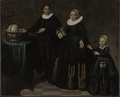 Portrait of Abel Tasman, his wife and daughter. Attributed to Jacob Gerritsz Cuyp, 1637.