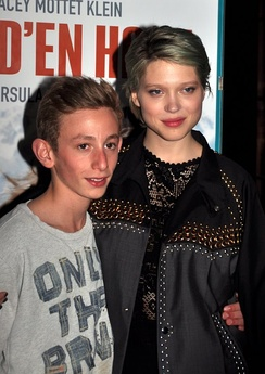 Stars Kacey Mottet Klein and Léa Seydoux at a screening in April 2012.