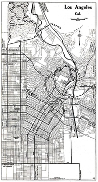 Map of Los Angeles in 1917