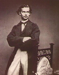 Ludwig II just after his accession to the throne of Bavaria in 1864