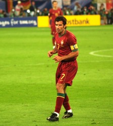 Luís Figo playing for Portugal at the 2006 FIFA World Cup