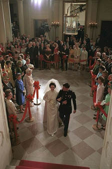 Robb and Lynda Bird Johnson's wedding at the White House, December 9, 1967.
