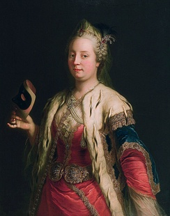 Maria Theresa of Austria, daughter of Emperor Charles VI and one time fiancée of Charles (1744)