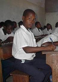 School children in the classroom