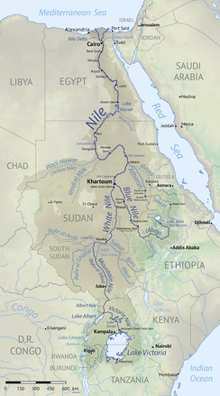 The Nile's drainage basin[26]