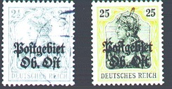 Postage stamps Ober Ost