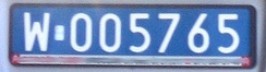 Polish Diplomatic plate from the Masovian Voivodeship for use by Germany (indicated by 005)