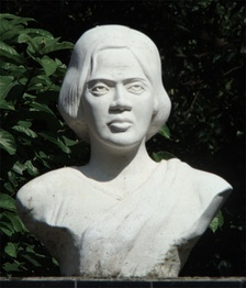A bust of Waddedar at Pritilata Waddedar primary school, Chittagong