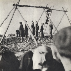 Public execution of 54 Poles in Rożki, Masovian Voivodeship (near Radom), German-occupied Poland, 1942