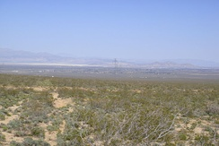 A typical Mojave desert valley and city: Indian Wells Valley and Ridgecrest, California