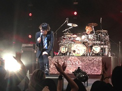 Kawamura performing with Luna Sea in 2013