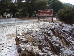 Snow in the Santa Monica Mountains in 2007.