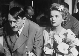 Vladimir Savelyev and Maria Novakova as Adolf Hitler and Eva Braun