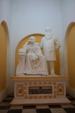 Statue of Blavatsky and Olcott at Adyar