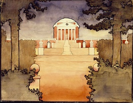 The Rotunda, as painted by American modernist painter Georgia O'Keeffe in the early 1910s when she was a Summer Session student
