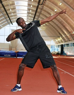 World record holder Usain Bolt is the most prominent ambassador.