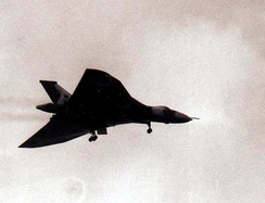 Vulcan over Ascension Island on 18 May 1982