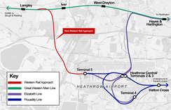 One of the transport projects being considered is the Western Rail Approach to Heathrow