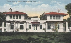 Villa Serena, Bryan's home built in 1913 at Miami, Florida