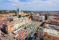 Zagreb Cathedral and Ban Jelačić Square