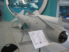 Kh-59Me is the television guided version of the Kh-59 land-attack missile.