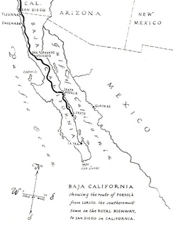 "A map produced in 1920 shows the earliest origination of ""El Camino Real in Baja California as it existed in 1769 before its later extension into Alta California."