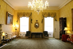 As First Lord of the Admiralty, Churchill's London residency became Admiralty House (music room pictured).