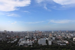 Aerial view of North Jakarta