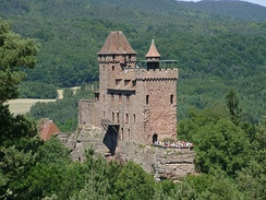 The imperial castle of Berwartstein, Palatinate, Germany
