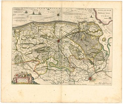 Map of Flanders in the 17th century