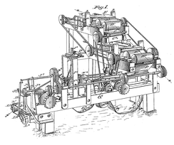 Bonsack's cigarette rolling machine, as shown on U.S. patent 238,640.