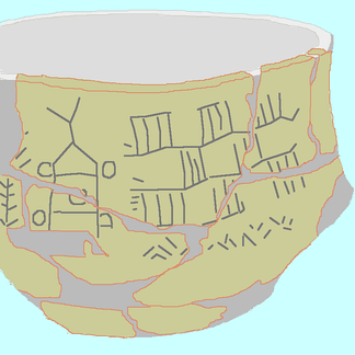 A drawing of the Bronocice pot