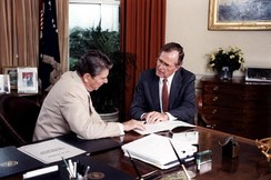 President Ronald Reagan and Vice President George Bush in 1984