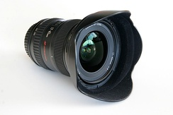 One of Canon's most-popular wide-angle lenses – 17-40 mm f/4 L retrofocus zoom lens.