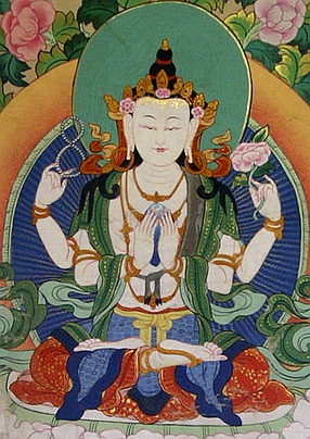 Four-armed Tibetan form of Avalokiteśvara.
