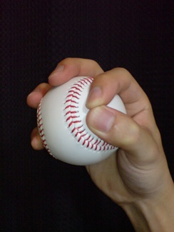 The grip used for a circle changeup.