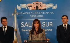 President Kirchner after the defeat at the 2009 midterm elections