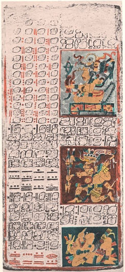 Yucatec Maya writing in the Dresden Codex, c. 11–12th century, Chichen Itza