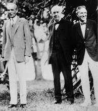 Henry Ford with Thomas Edison and Harvey Firestone. Fort Myers, Florida, February 11, 1929.