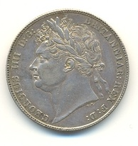 Half-crown of George IV, 1821