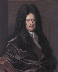 Gottfried Wilhelm Leibniz, a German polymath who wrote primarily in Latin and French. His fields of study were Metaphysics, Mathematics, Theodicy.