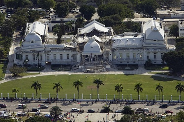 Haitian National Palace destroyed following the 2010 earthquake.