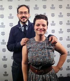 Penny Lane and  Francisco Bello at the International Film Festival of Rotterdam 2013 to promote Our Nixon