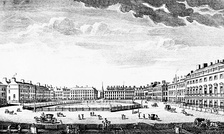 Norfolk House is on the far right on this mid-18th-century engraving.
